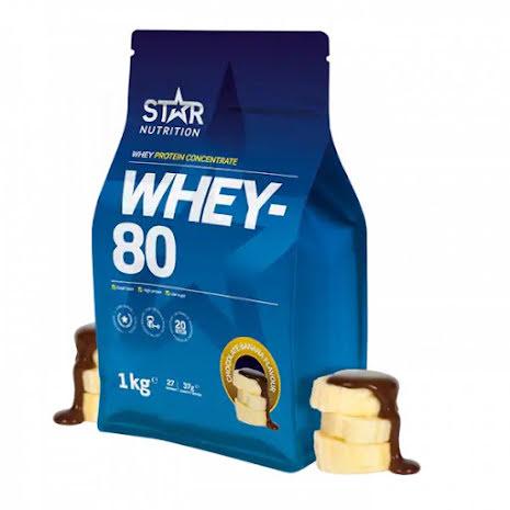 Star Nutrition Whey 80 1kg - Chooclate Banana