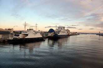 Photo: We arrive in Trondheim - the ferry harbor