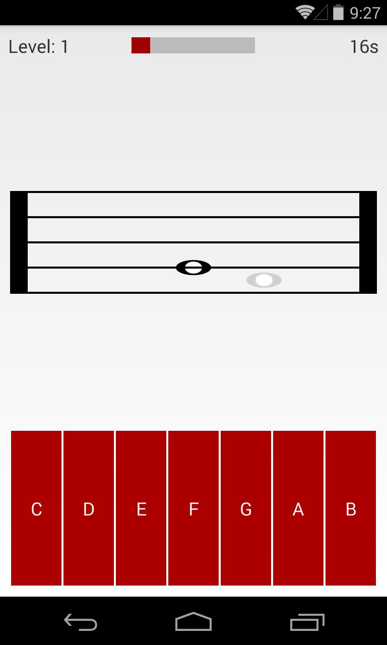 Скриншот Solfeador - Music reading