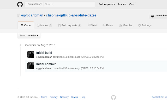 Github Absolute Dates
