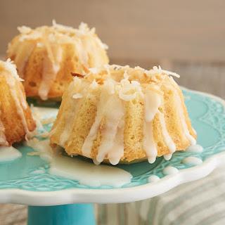 Mini Coconut Bundt Cakes.