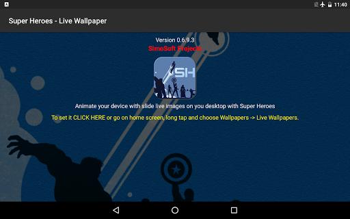 Super Heroes - Live Wallpaper 0.8.0 screenshots 9