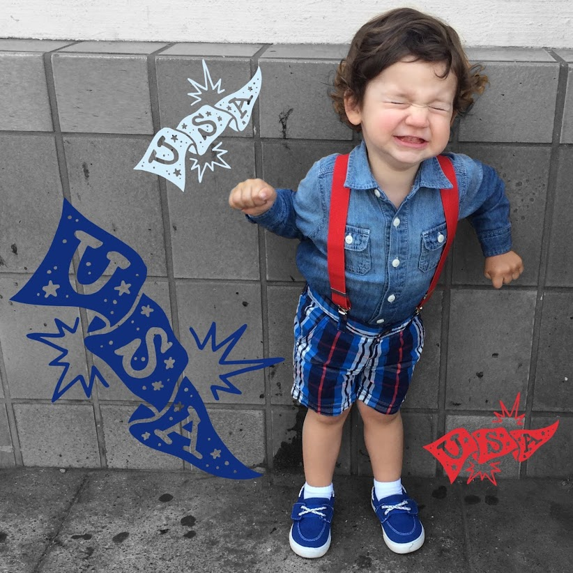 Patriotic toddler awesomeness