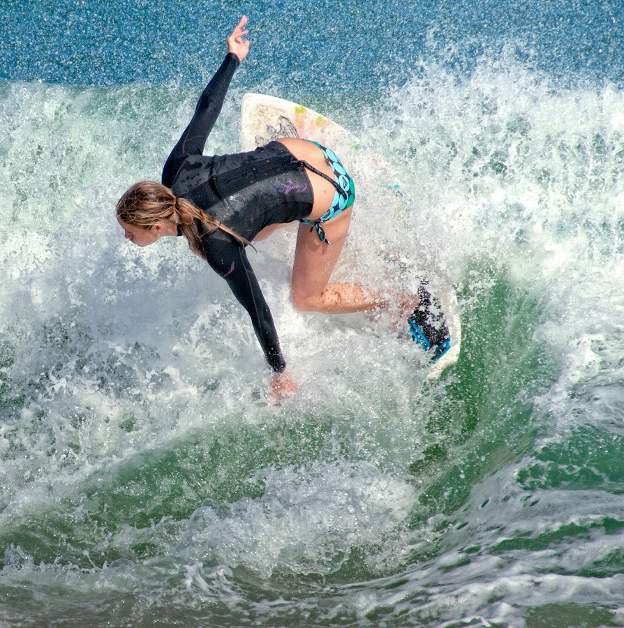 Skimboarding Girl by Courtland Roberts - Sports & Fitness Surfing