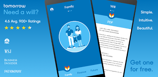 Create a legal will in minutes, on your phone, for free.