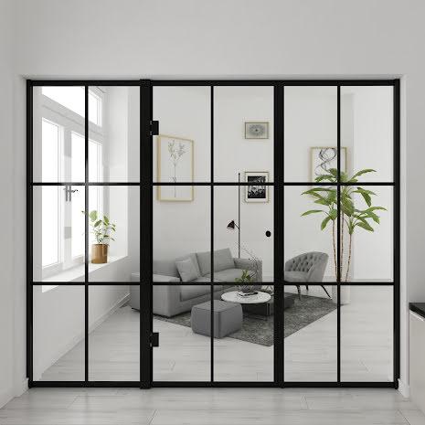 Industrivägg två väggar + en dörr