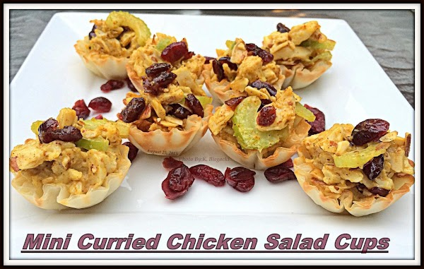 Mini Curried Chicken Salad Cups Recipe