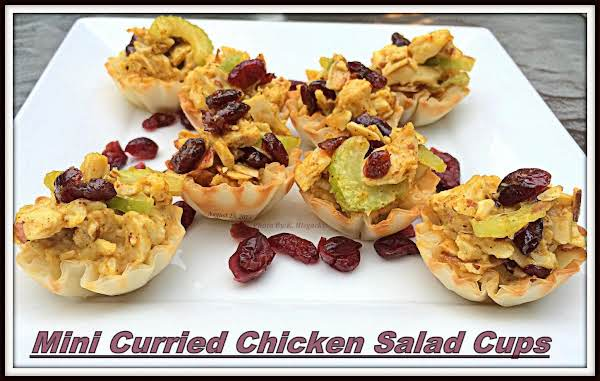 Mini Curried Chicken Salad Cups