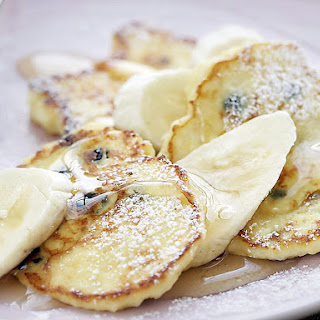 Australian Style Pancakes with Ricotta and Honey.