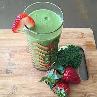 Creamy Spring Green Strawberry Smoothie.