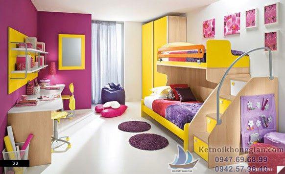 thiết kế phòng ngủ cho bé trai nhanh lớn