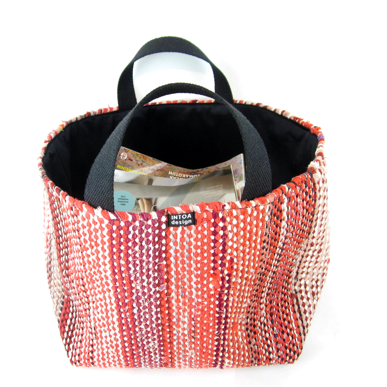 Diy Rag Rug Basket: Handmade Basket Of Rag Rugs, L