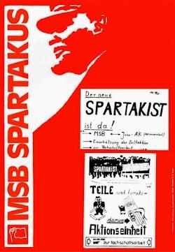 Plakat zu den Aktivitäten des MSB Spartakus und zur Aktionseinheit.