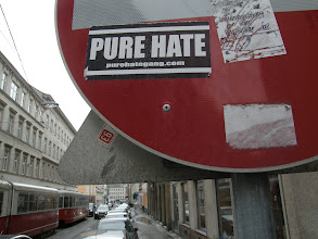 Photo: Wien, Vienna, Bécs, Austria, pure hate, sticker