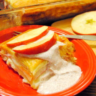 Apple,Ham,Turkey Bake with Cinnamon Dressing