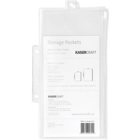 Kaisercraft Pack & Store Storage Pockets 5/Pkg 8.25X4