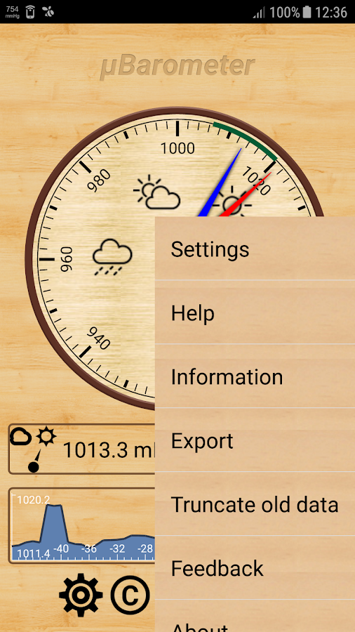 mu Barometer- screenshot