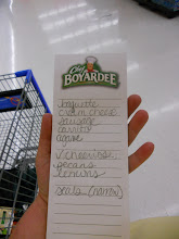 Photo: I made a list this time. I knew I would forget something if I didn't (even with the list I had to stop at another store because I forgot the baguette)
