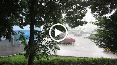 Video: Turda, Calea Victoriei, vedere din balconul meu - 2019.07.15