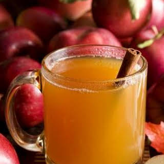 Apple Cider with Spiced Rum.