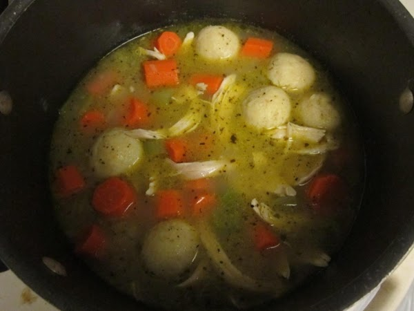 Everything in the pot should be tender now so you can add the pulled...