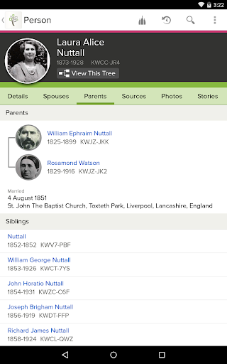 FamilySearch Tree 3.6.4 screenshots 2