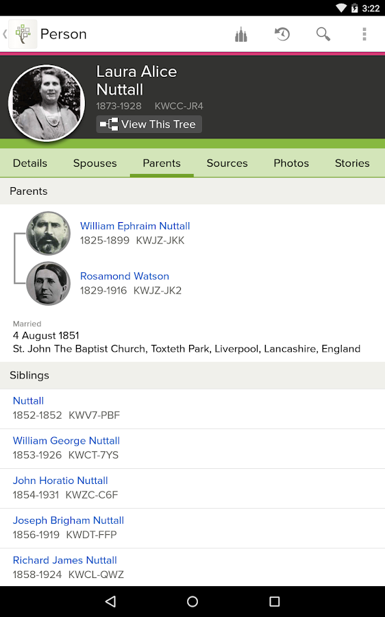 FamilySearch Tree- screenshot