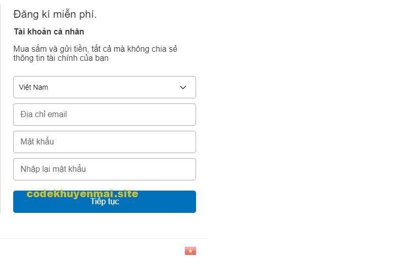 paypal đăng ký