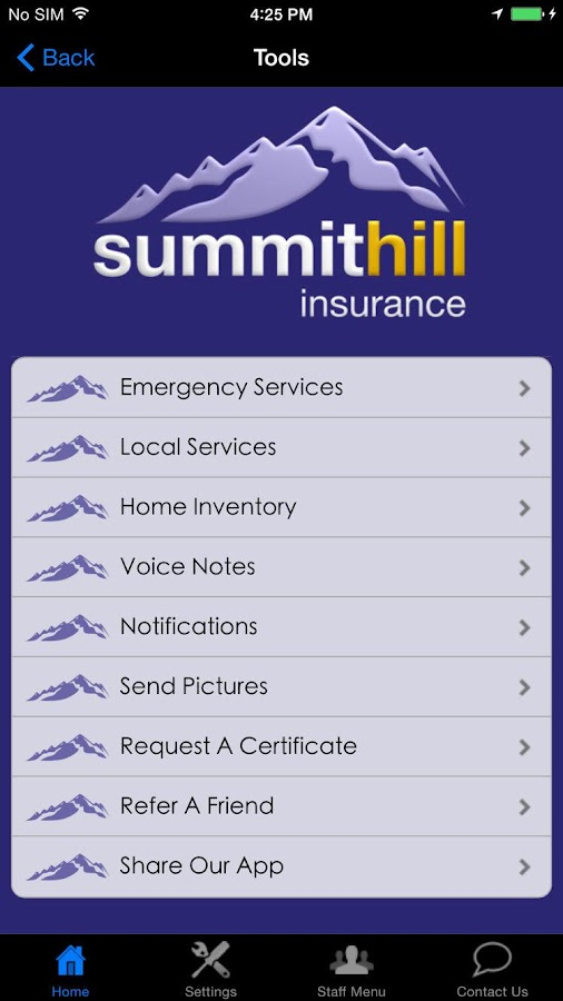 Summit Hill Insurance- screenshot