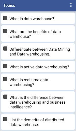 EduQuiz: Data Warehousing 1.0 screenshots 7
