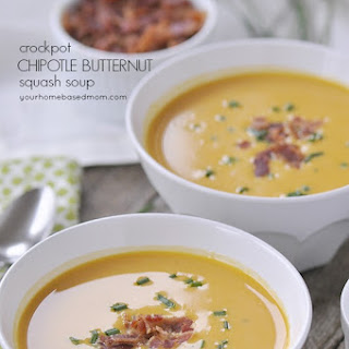 Crockpot Chipotle Butternut Squash Soup