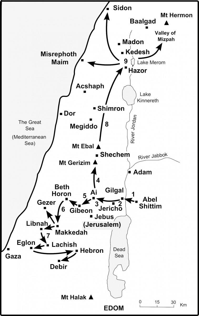Joshua's campaigns in Canaan