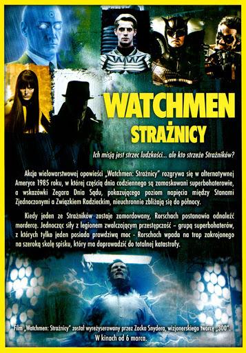 Tył ulotki filmu 'Watchmen. Strażnicy'
