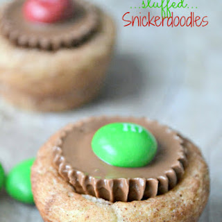 Peanut Butter Cup Stuffed Snickerdoodles