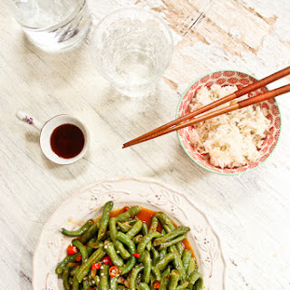 Snake Beans in Spicy Bean Paste Stir-fry Recipe 辣豆酱炒青豆