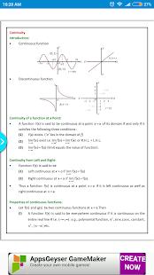 Maths Continuity Formula Book - náhled