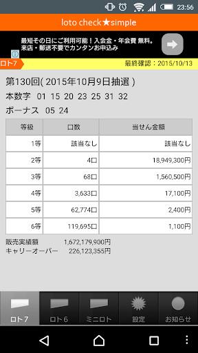 ロト6 当選番号 速報 みずほ銀行