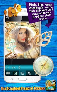 Sea Scrapbook Frames & Sticker - náhled
