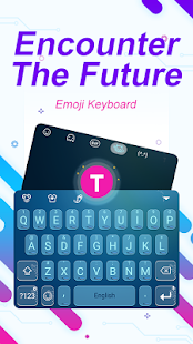Encounter The Future Theme&Emoji Keyboard - náhled