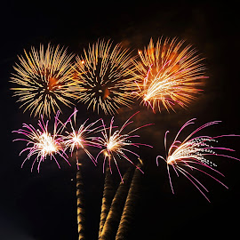 Fireworks #4 by Koh Chip Whye - Abstract Fire & Fireworks