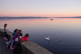 Photo: Sunset at lake of Bracciano, Italy.