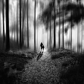 Dark forest by Rafael Kos - Digital Art People ( forest, black&white )