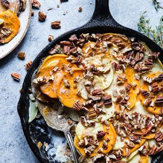 Healthy Scalloped Sweet Potatoes Casserole.