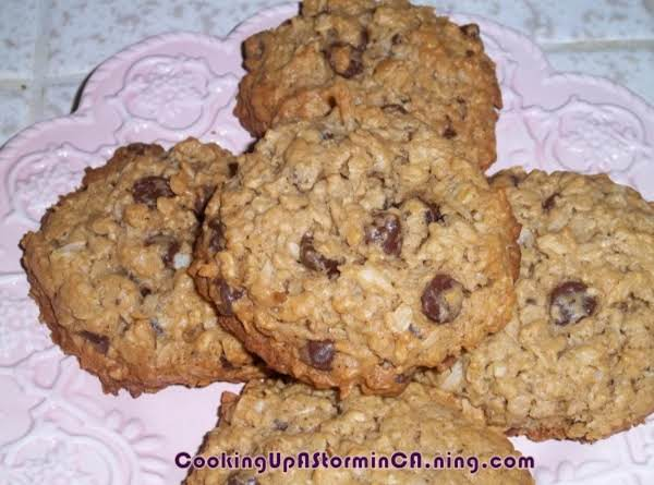 Oatmeal Coconut Chocolate Chip Monster Birthday Cookies