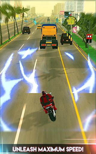 Amazing Spider 3D Hero: Moto Rider City Escape screenshot 2