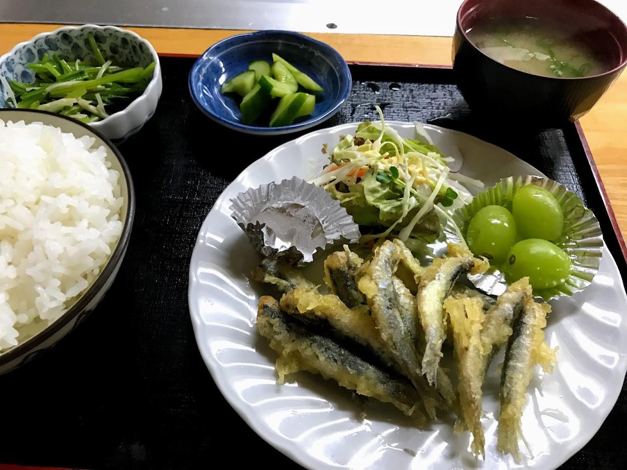 こいわしの天ぷら定食