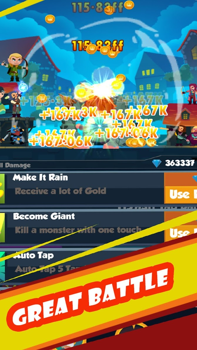 Tapping Clicker: Heroes Android 4