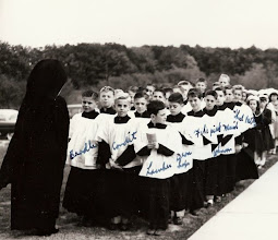 Photo: 1952 Altar boys procession line up for the dedication of St. Francis School