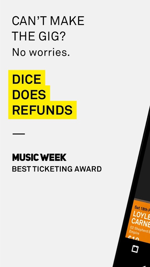 DICE: Tickets for Gigs, Clubs & Festivals- screenshot