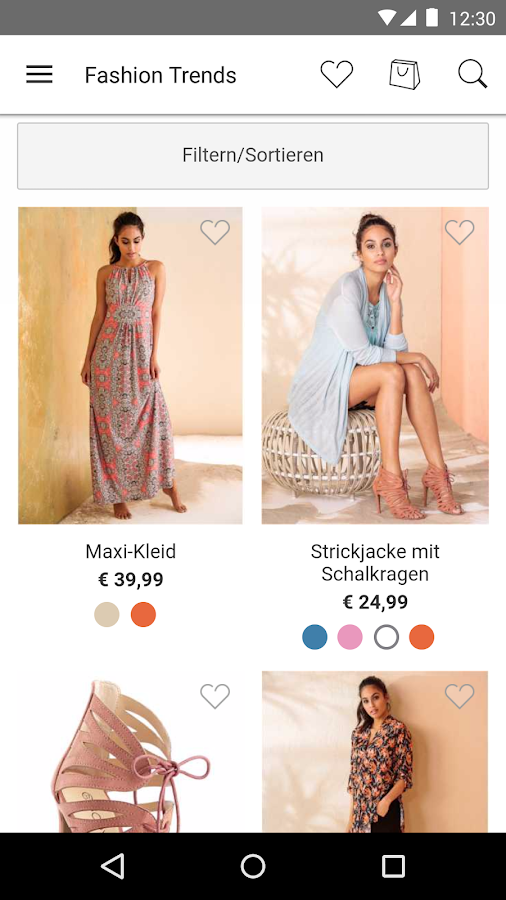 bonprix – Mode online shoppen – Screenshot